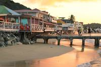 Waterfront at sunset, Grand Case, St. Maarten