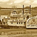 """Riverboat Rides Memphis (Sepia)"" by kFergPhotos"