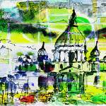 """Abstract Saint Peter Basilica Rome Italy"" by GinetteCallaway"