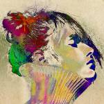 """Colorful portrait"" by amira"