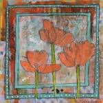 """orange poppy flower art"" by schulmanart"