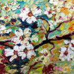 """Impressionist Oil Dogwood Spring Blossoms"" by GinetteCallaway"