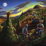 """Farmer Shucking CornFolk Art Appalachian Landscape"" by walt-curlee"