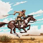 """Pony Express Rider"" by walt-curlee"