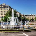 """Fountain in Paseo de la Castellana"" by TomGomez"