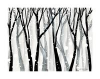 winter snow print