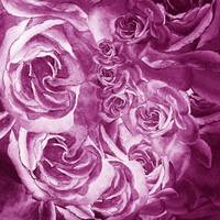 Purple Rose Petals Abstract Home Decor