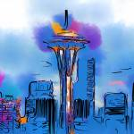 """The Space Needle In Soft Abstract"" by Kirtdtisdale"