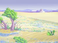 Painted Desert Abstract Retro Landscape - 1980s po