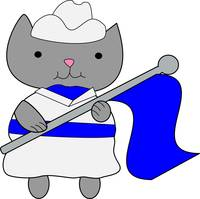 Color Guard Cat