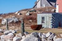 fishing shacks, Indian harbour, Nova Scotia