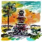 """Charleston Pineapple Fountain SC"" by GinetteCallaway"