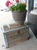 Wooden Milk Crate with flowers