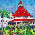 """""""Hotel del Coronado Ballroom Tower San Diego"""" by BeaconArtWorksCorporation"""