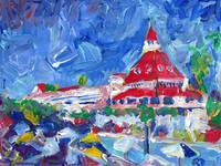 Hotel del Coronado Poolside Abstract