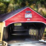 """Bath Covered Bridge Entrance View"" by George_Oze"