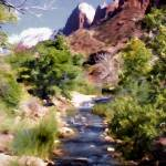 """Zion National Park Spring Snow Runoff"" by ElainePlesser"