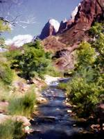 Zion National Park Spring Snow Runoff