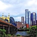 """Pittsburgh PA - Pittsburgh Skyline by Smithfield S"" by susansartgallery"