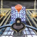 """""""Om Namah Shivaya spiritual meditating painting"""" by mkanvinde"""