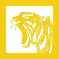Linocut Yellow Tiger