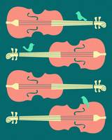 BIRDS ON CELLO STRINGS 1