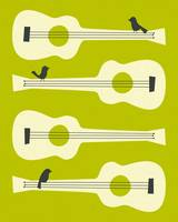 BIRDS ON GUITAR STRINGS 4