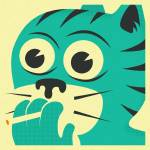 """SMOKING CAT"" by JazzberryBlue"