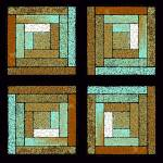"""Earth and Sea Quilt Squares"" by KsWorldArt"