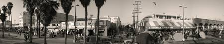 Venice Boardwalk B&W