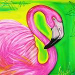 """Electric Flamingo"" by ArtPrints"