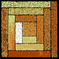 Golden Patchwork Quilt Square