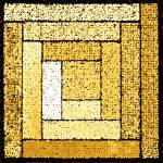 """Yellow Patchwork Quilt Square"" by KsWorldArt"