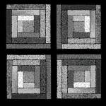 """Black and White Quilt Squares"" by KsWorldArt"