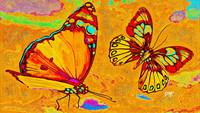 Abstract Butterfly Art 1