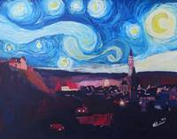 Starry Night in Landshut - Van Gogh Inspirations i