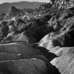 """Zabriskie Point in Death Valley (B/W)"" by Mun_Sing"