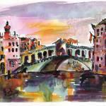 """Venice Silence Rialto Bridge"" by GinetteCallaway"