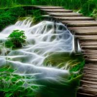 Waterfalls and Wooden Bridges