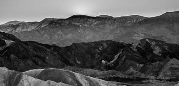 Death Valley Zabriskie Point Mountain (B/W)