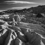 """Death Valley Zabriskie Point (vallery - B/W)"" by Mun_Sing"