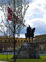 Spring on the Skanderbeg Monument