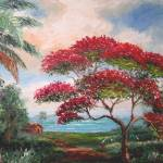 """Royal Poinciana Beach"" by mazz"