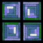 """Purple Quilt Squares"" by KsWorldArt"