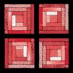 """Rose Quilt Squares"" by KsWorldArt"