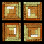 """Golden Quilt Squares"" by KsWorldArt"