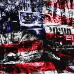 """Jeep JK American Flag Wall Art_DSC0927 FINAL SIGNA"" by LukeMoore"