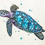 """Sea Turtle"" by Littlepig"