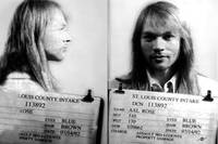 Axl Rose Mug Shot 1992 Horizontal Photo