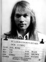 Axl Rose Mug Shot 1992 Front Photo